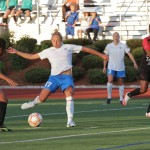 Kyah Simon scored her first two goals of the WPSL Elite League season on Friday. (Photo Copyright: Meg Linehan)