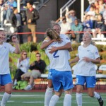 The Breakers celebrate one of their four goals from Friday&#039;s 4-1 win over FC Indiana. (Photo Copyright: Meg Linehan)