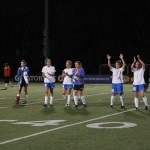The Boston Breakers celebrate a 4-1 home opener victory over FC Indiana on May 18. (Photo Copyright: Meg Linehan)