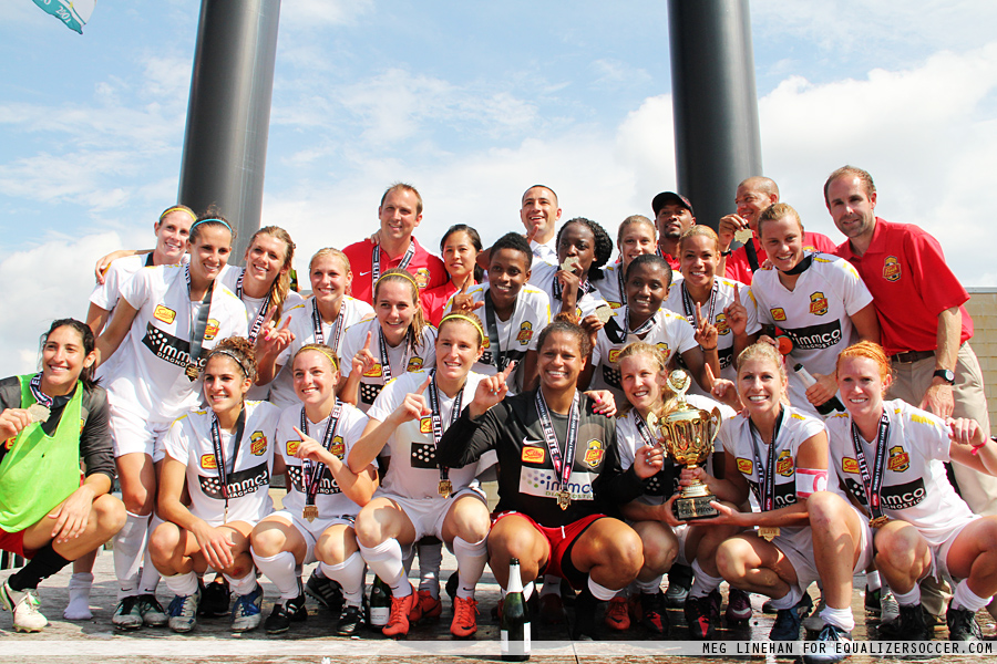 Western New York Flash have won three-straight titles in three different leagues. In 2012, that was WPSL Elite. (Photo Credit: Meg Linehan/EqualizerSoccer.com))