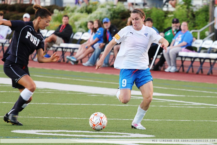Heather O'Reilly trained with the Boston Breakers for the first time this season on Wednesday.. (Photo copyright Meg Linehan for www.equalizersoccer.com)