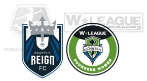 Seattle Reign FC taking on Sounders Women in style