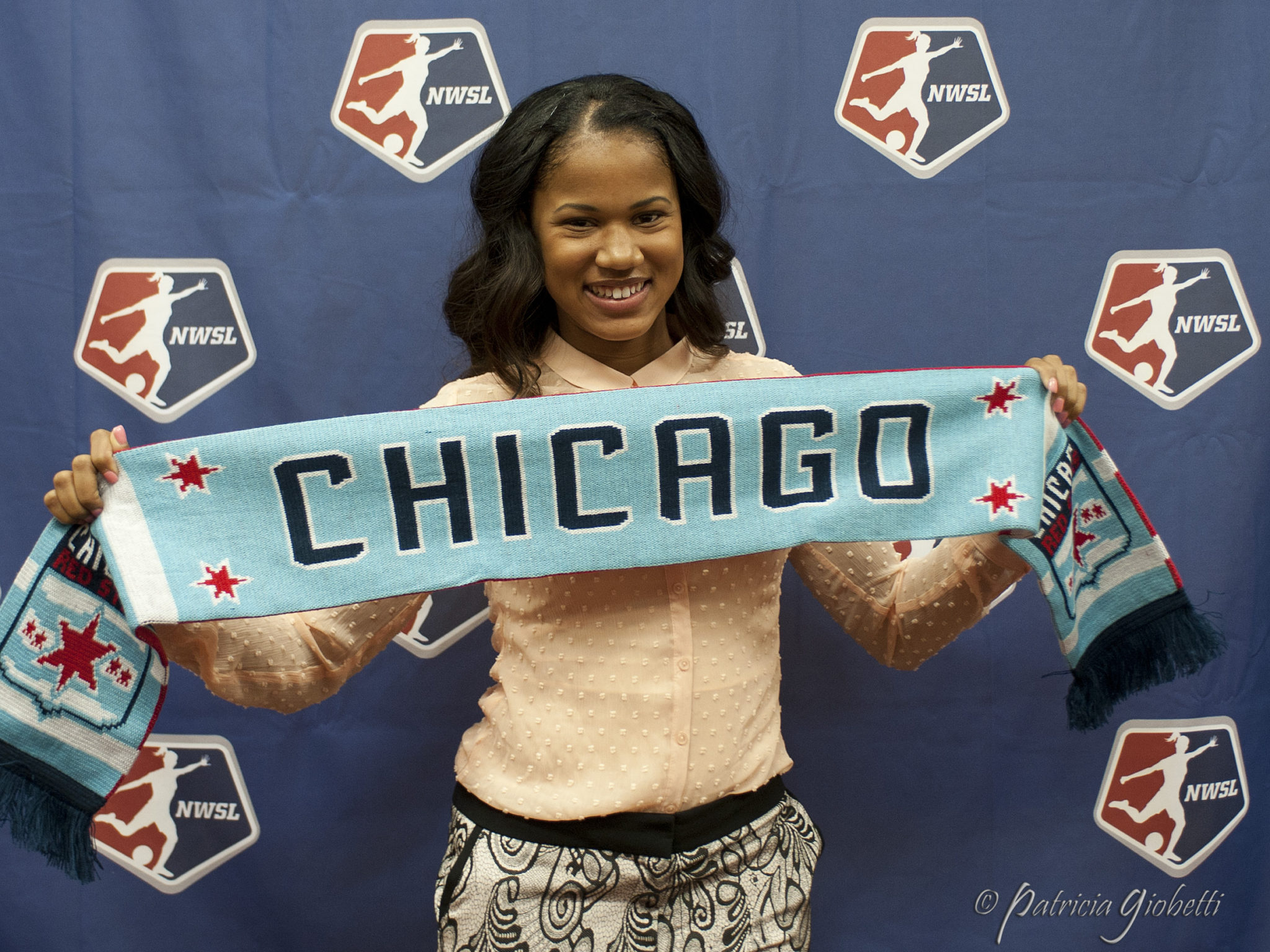 UCLA forward Zakiya Bywaters was drafted No. 1-overall by the Chicago Red Stars. (Photo Copyright: Patricia Giobetti)
