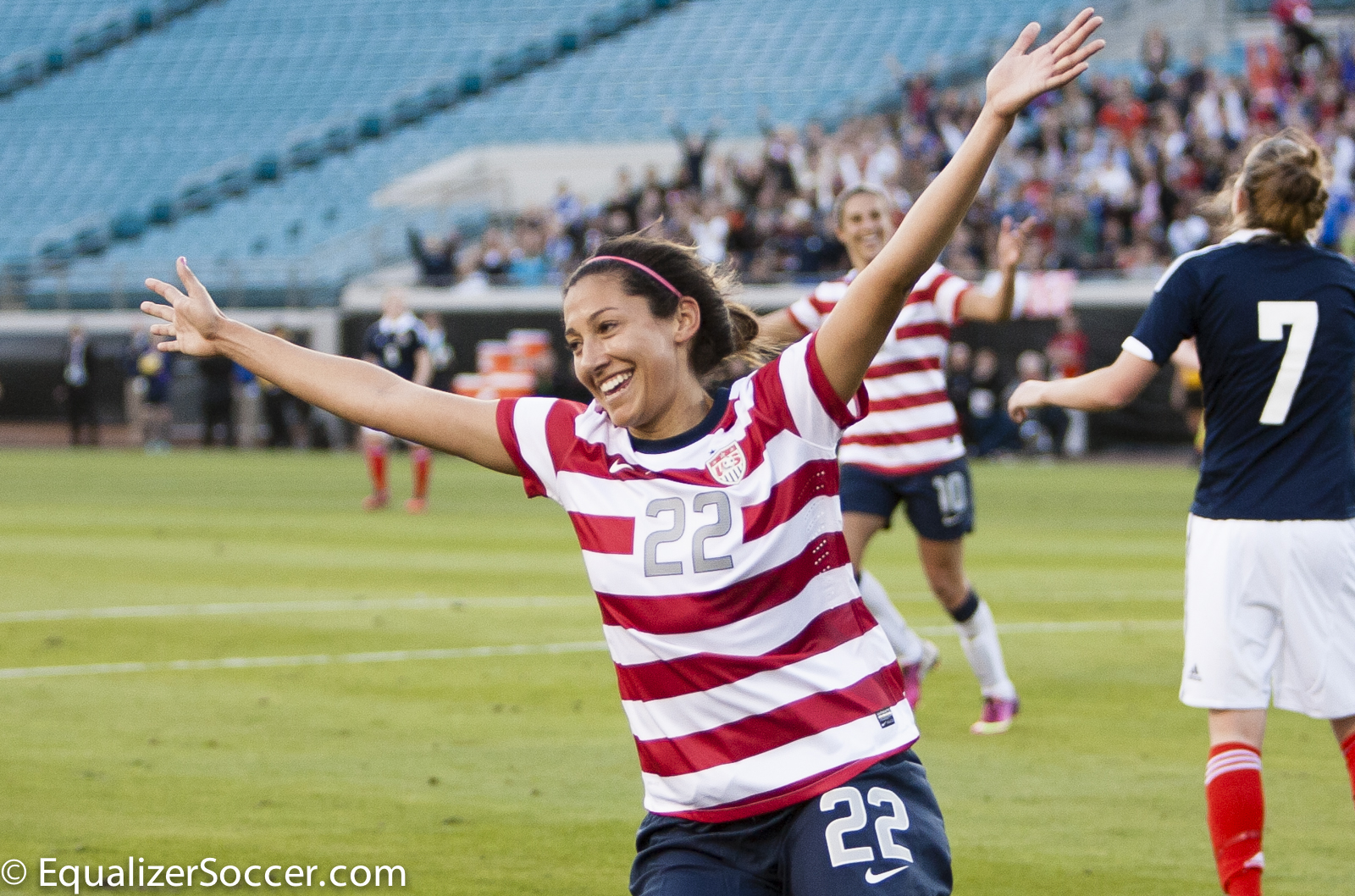 Christen Press is about to win the golden boot in Sweden's Damallsvenskan. (Photo copyright Steve Bruno for www.equalizersoccer.com)