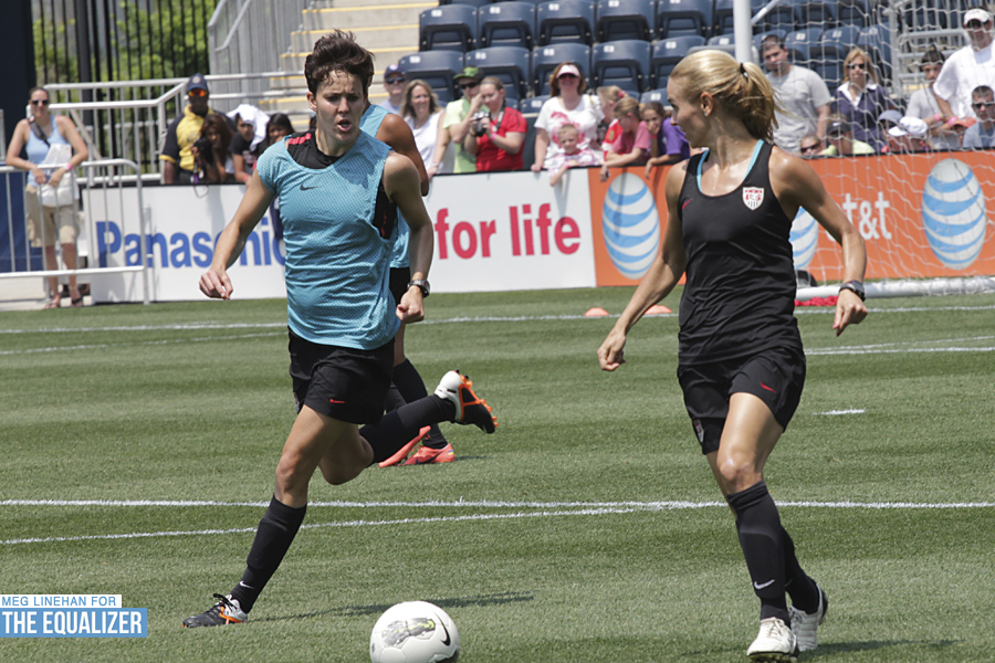 Keelin Winters (left) was traded from the Chicago Red Stars to Seattle Reign FC last week. (Photo Copyright: Meg Linehan for equalizersoccer.com)