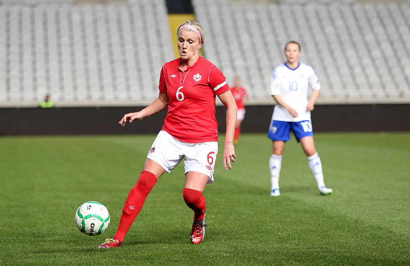 Kaylyn Kyle scored a 94th minute equalizer for Canada vs. France. (Photo courtesy Canada Soccer)