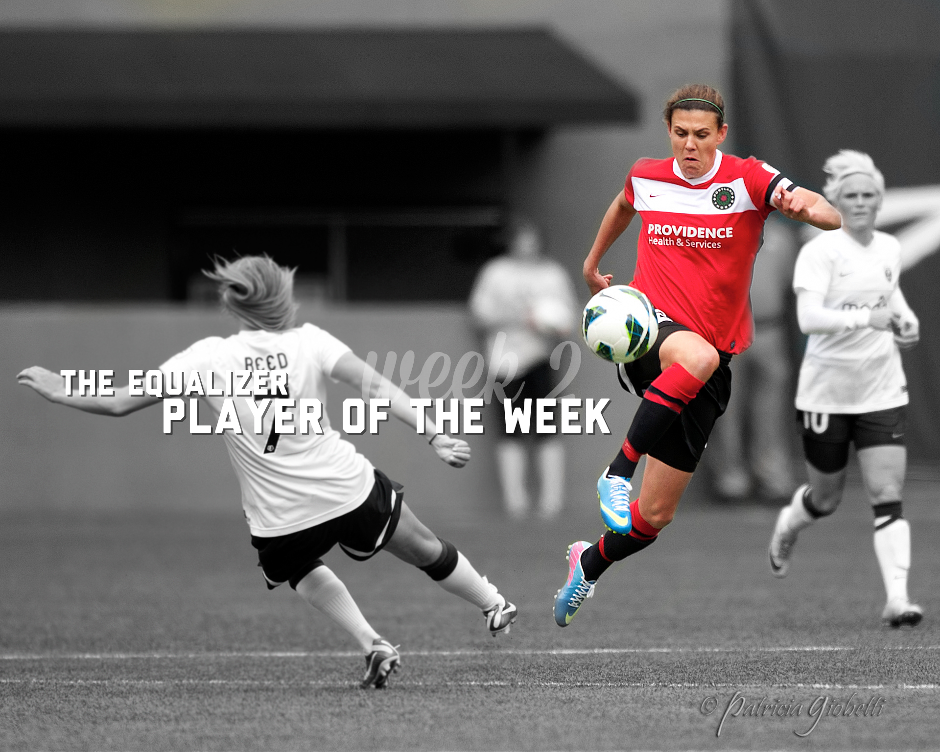 Chistine Sinclair is The Equalizer's Week 2 Player of the Week. (Copyright Patricia Giobetti | http://www.printroom.com/pro/psgiobetti)
