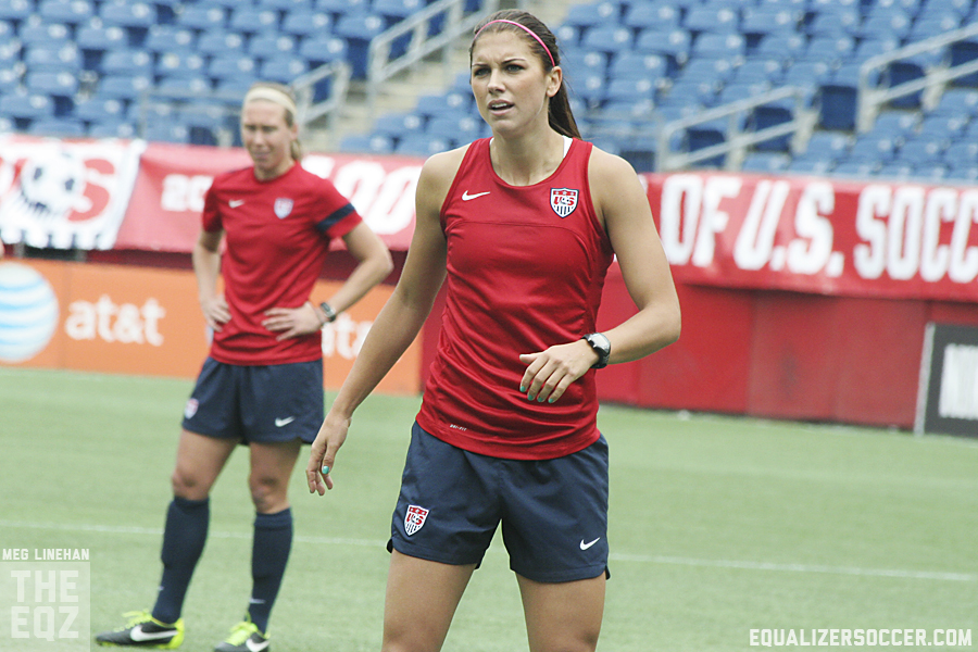 Alex Morgan is back with the USWNT for the first time since December training camp, and she says she is fully healthy. (Photo copyright Meg Linehan for The Equalizer)