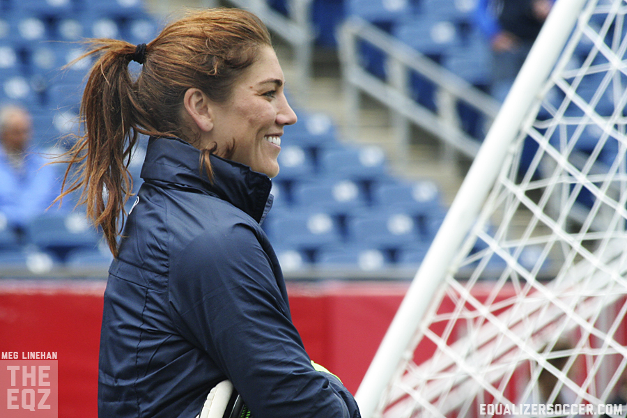 Hope Solo opened up about her 30-day suspension in a new blog. (Photo copyright Meg Linehan for The Equalizer)