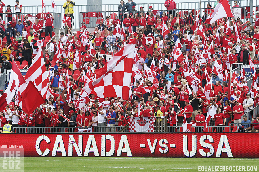 Canada expects to play World Cup matches in front of large crowds.  Will they wind up on the podium? (Photo copyright Meg Linehan for The Equalizer)
