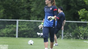 VIDEO: Hope Solo is back in US camp