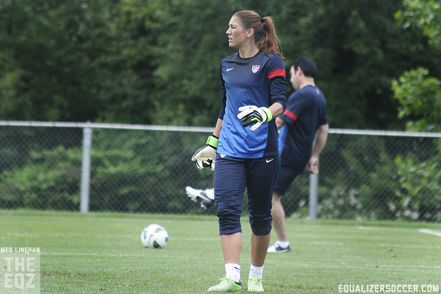 Hope Solo is back with the U.S. and feeling confident. (Photo copyright Meg Linehan for The Equalizer)