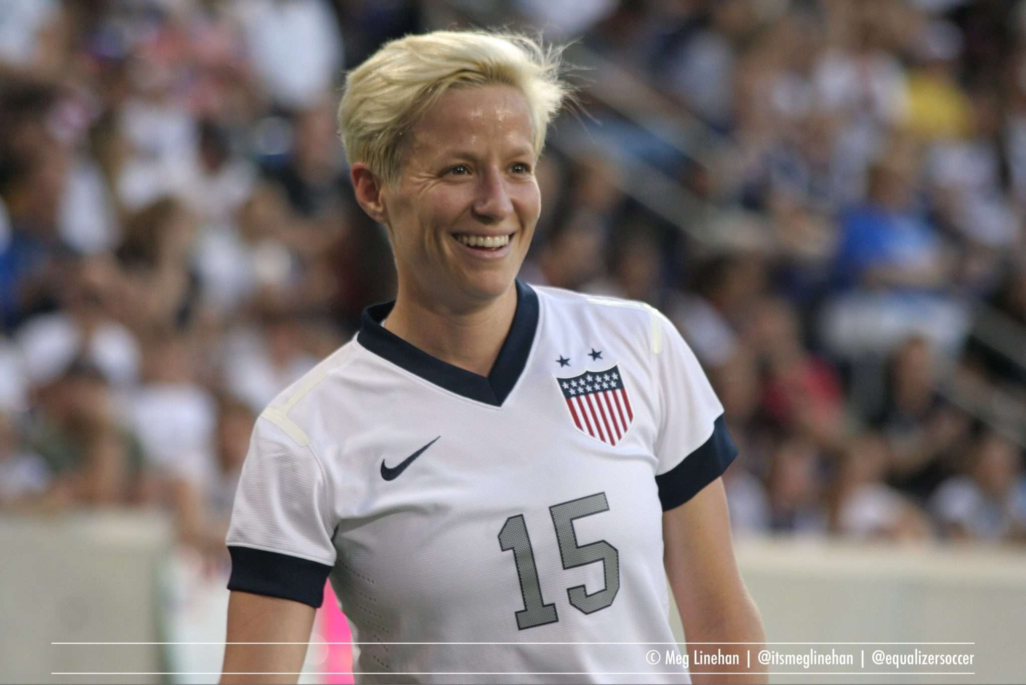 Megan Rapinoe scored in the United States' 2-0 victory over China on Sunday. (Photo copyright Meg Linehan for The Equalizer)