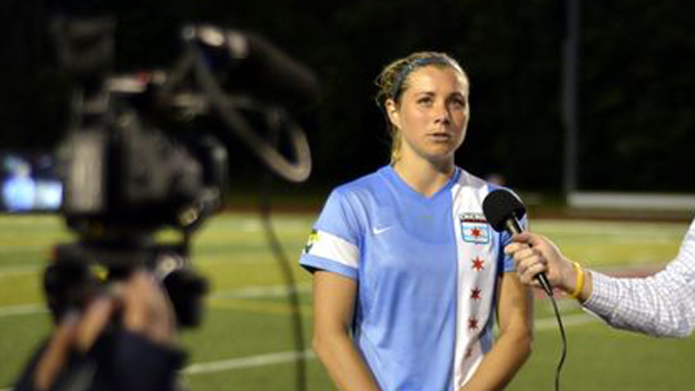 Red Stars defender Taryn Hemmings scored the game-winner on Saturday. (Photo Credit: Chicago Red Stars/Smith)