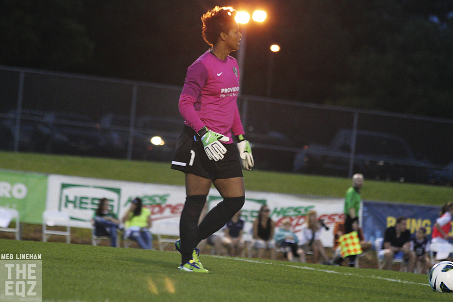 Karina LeBlanc made a season-high 10 saves in a 0-0 draw with the Flash. (Photo Copyright Meg Linehan for The Equalizer)