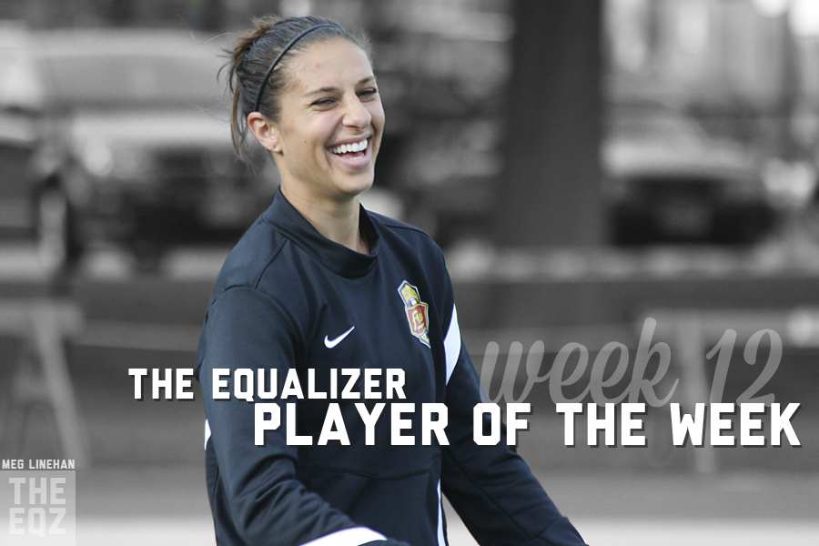 Carli Lloyd is The Equalizer's Week 12 NWSL Player of the Week, as voted on by the editors of the site. (Photo copyright Meg Linehan for The Equalizer)