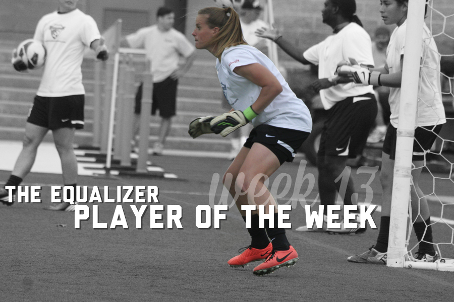 Alyssa Naeher is the Player of the Week, as voted on by the editors of The Equalizer.  (Photo copyright Meg Linehan for The Equalizer.)