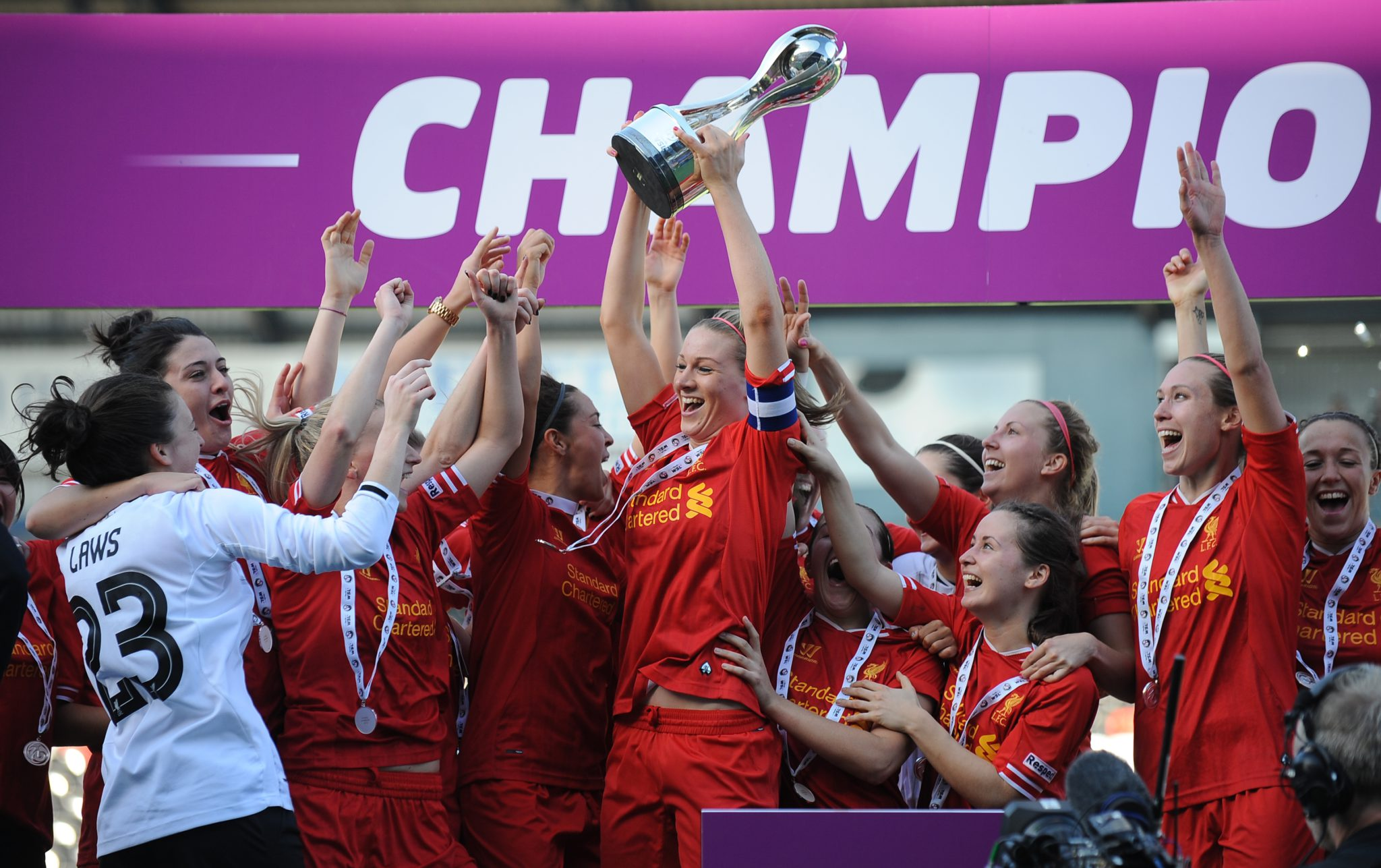 Liverpool won the FAWSL in 2013, but can the Reds repeat? (AP Photo)