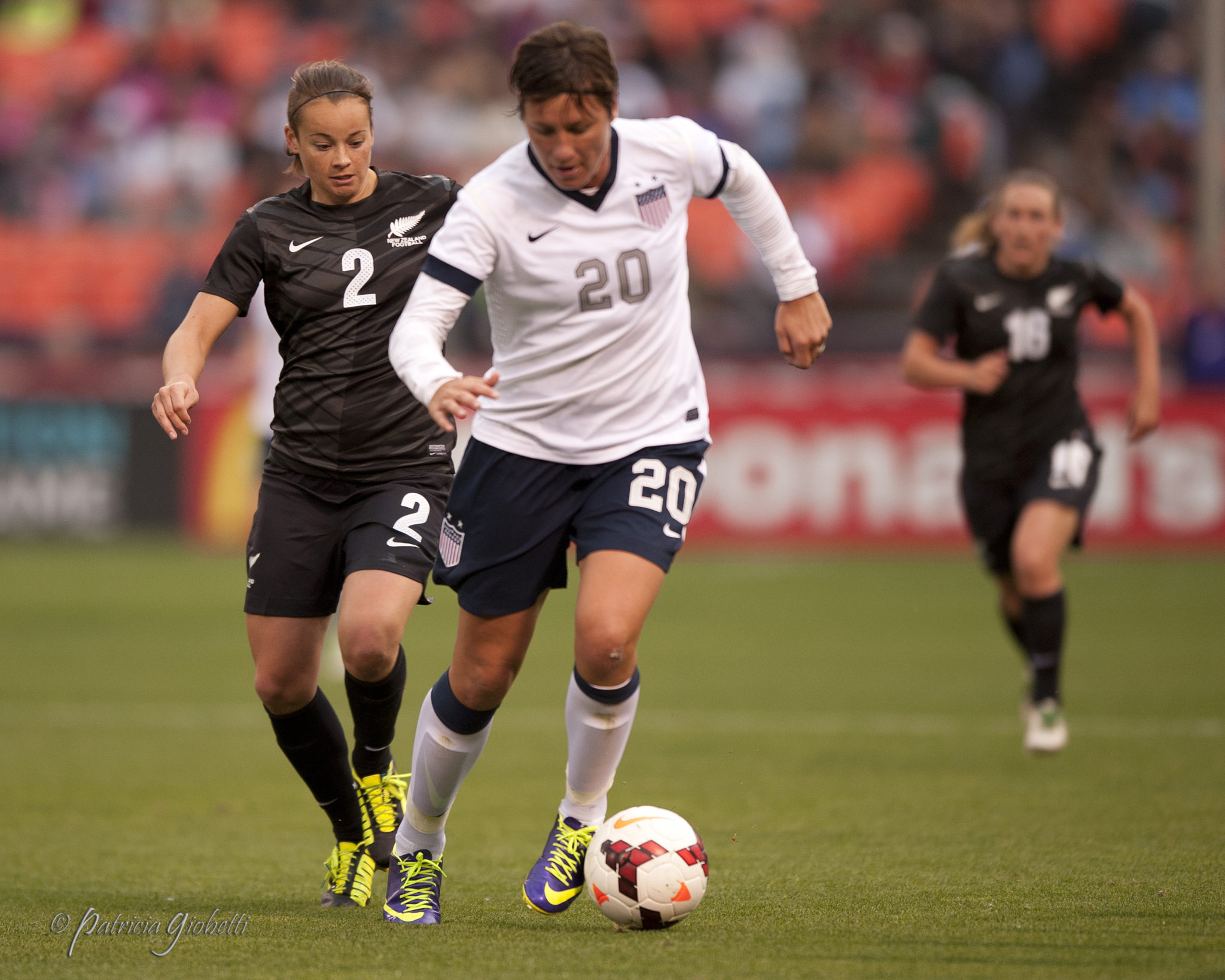 Abby Wambach won a sixth U.S. Soccer female athlete of the year award. (Photo Copyright Patricia Giobetti)