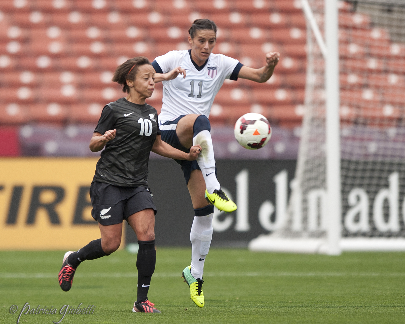 The USWNT will reportedly play New Zealand on April 4 in St. Louis.  (Photo Copyright Patricia Giobetti)