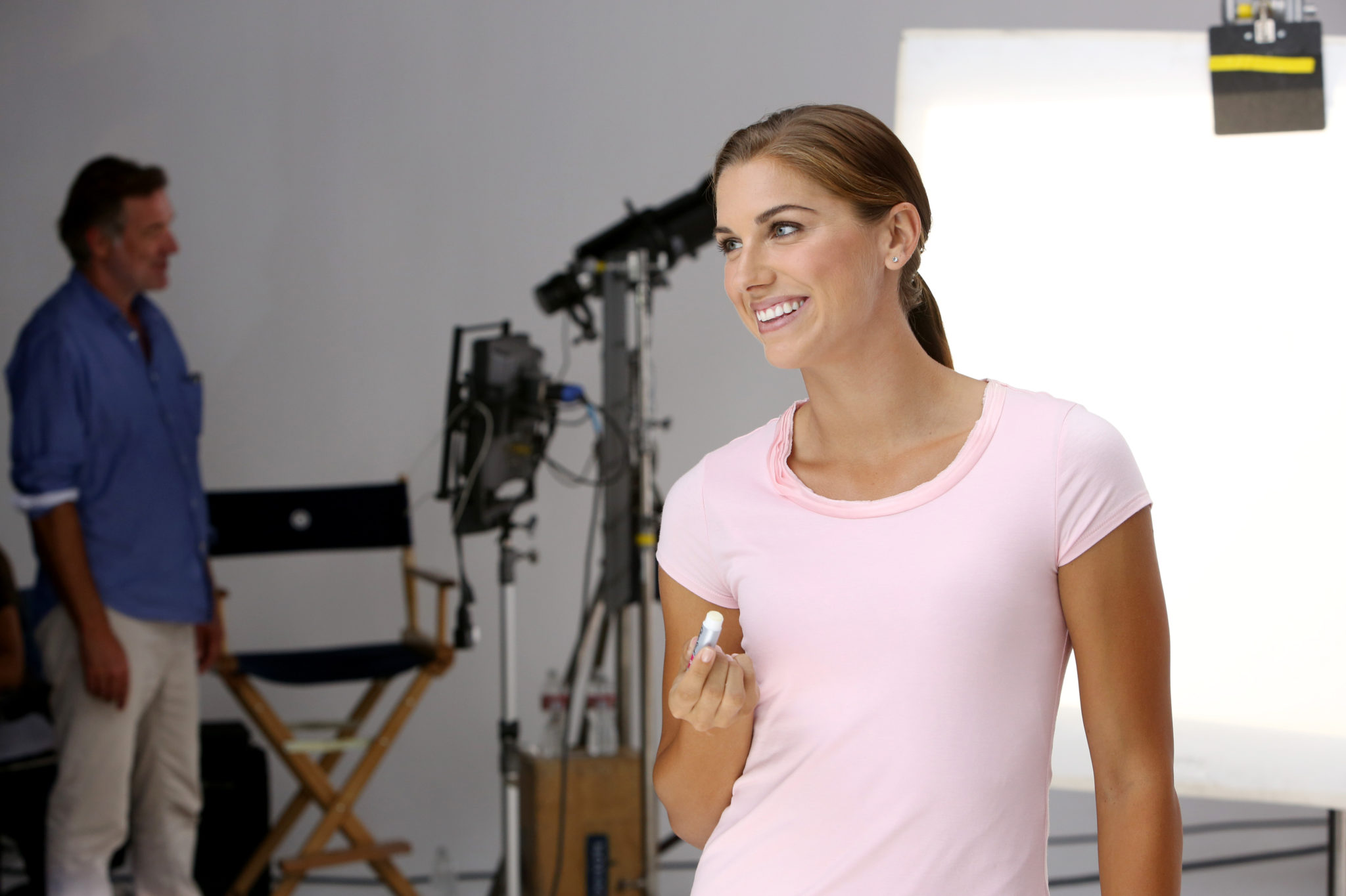 Alex Morgan, new spokesperson for ChapStick®, in first shoot with the brand on Tuesday, Oct. 8, 2013 in Los Angeles. (Photo by Casey Rodgers/Invision for ChapStick®/AP Images)