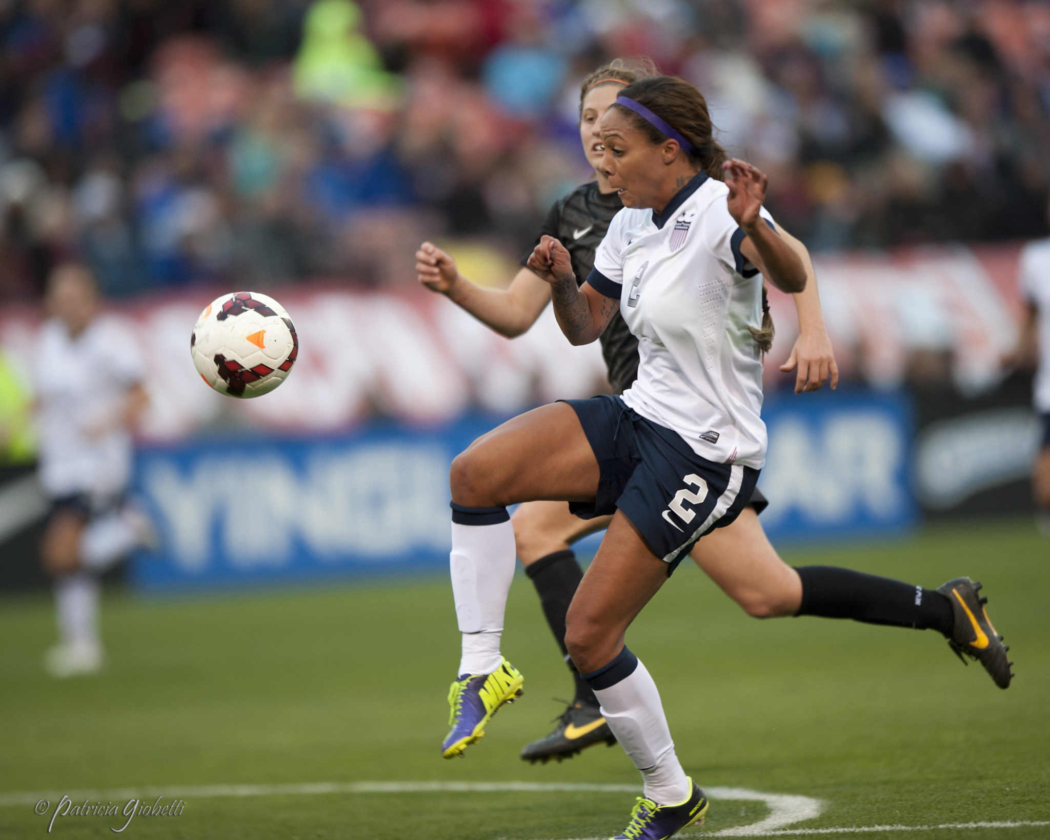 Sydney Leroux scored for the U.S. on Wednesday in a 1-1 draw with New Zealand. (Photo Copyright Patricia Giobetti for The Equalizer)