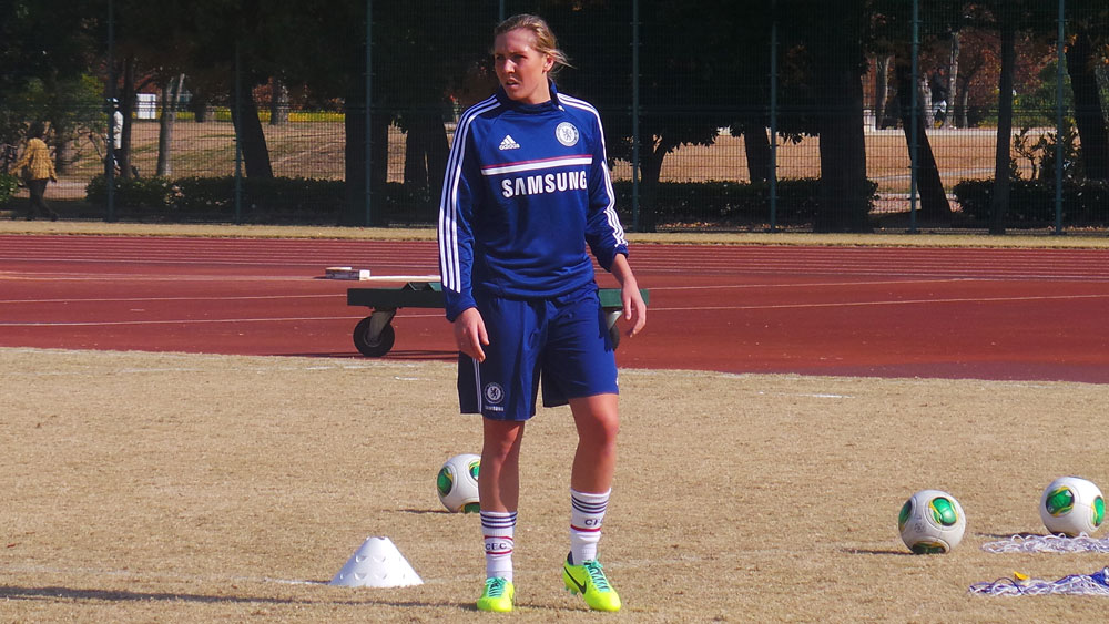 Allie Long is on short-term loan with Chelsea Ladies. (Photo Courtesy Chelsea FC)