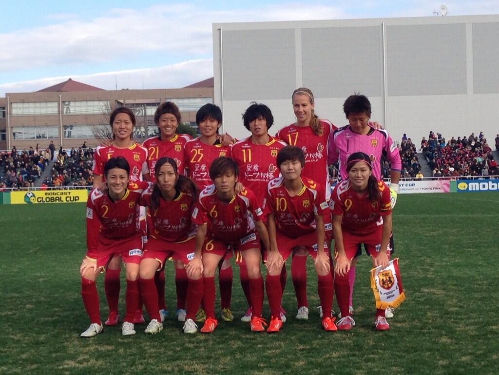 INAC Kobe Leonessa won the 2013 Mobcast Cup. (Photo: @inackobe2001)