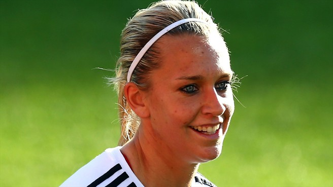 Lena Goeßling got my official vote for 2013 FIFA Women's World Player of the Year. (Photo: uefa.com)