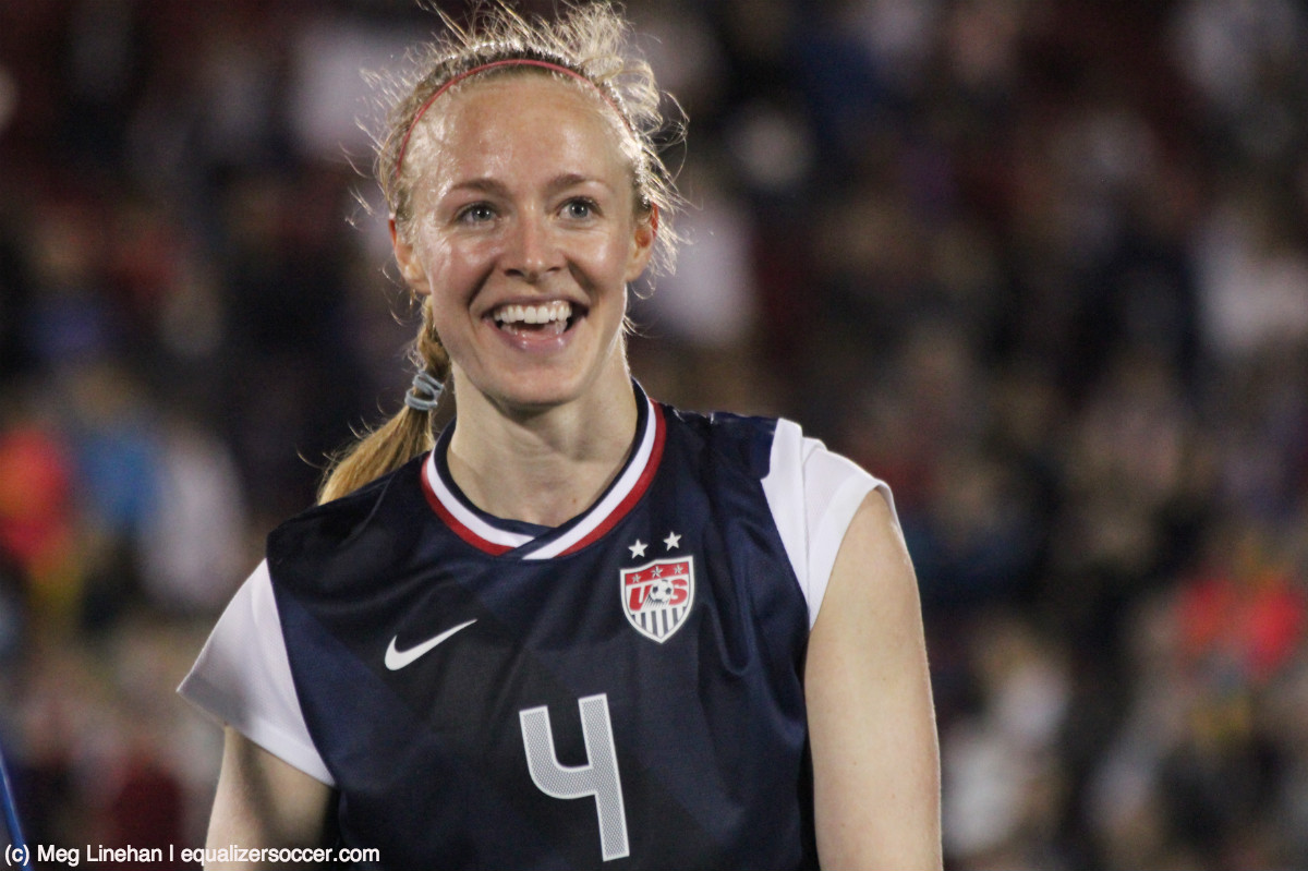 Becky Sauerbrunn earned Woman of the Match honors in Frisco, TX. (Photo copyright Meg Linehan for The Equalizer.)