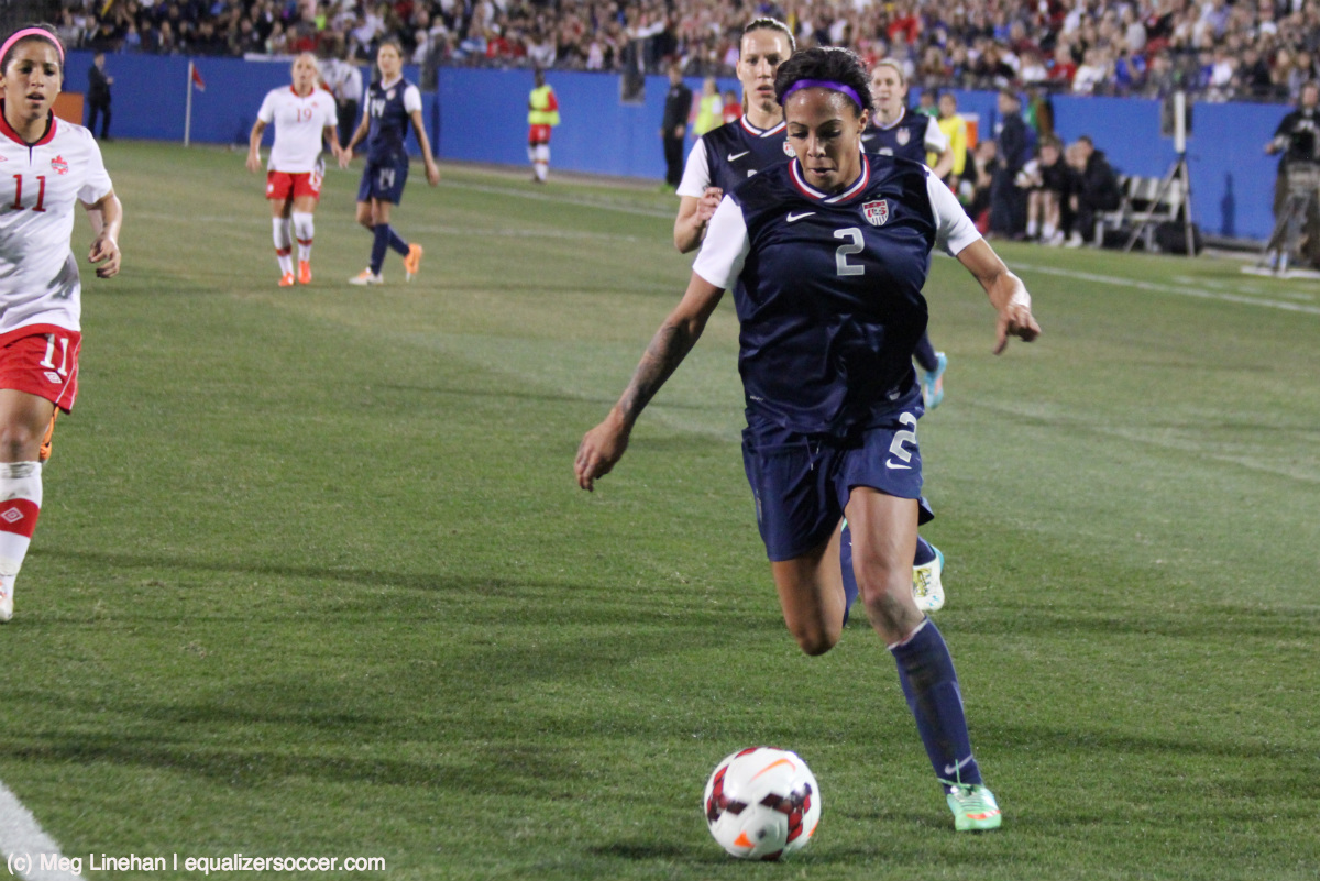 Sydney Leroux lifted the U.S. past Canada with the game's lone goal. (Photo Copyright Meg Linehan for The Equalizer)