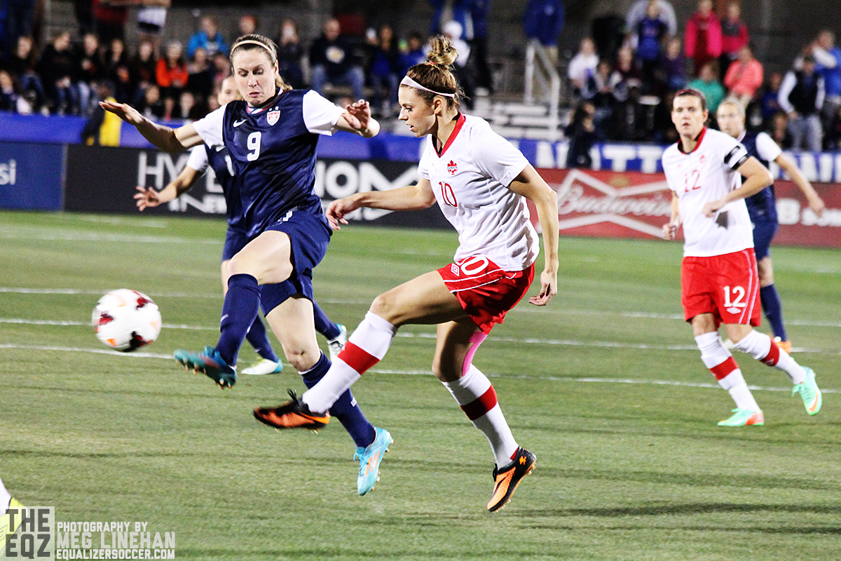 Lauren Sesselmann was hurt during training with the Canadian women's national team during preparations for the Cyprus Cup. (Photo copyright Meg Linehan for The Equalizer.)