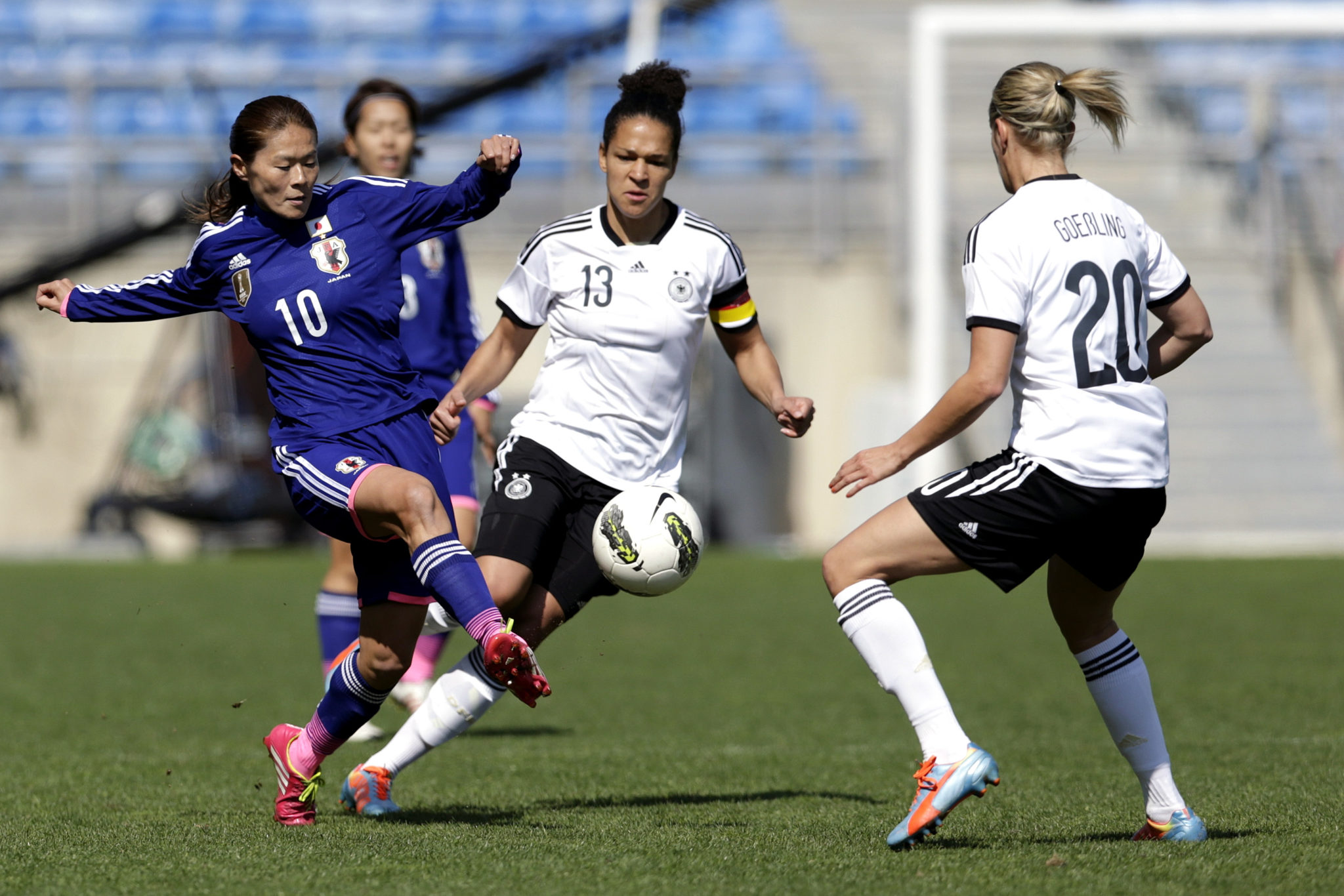 Germany dominated Japan, winning the Algarve Cup final 3-0. (Photo: Getty Images)