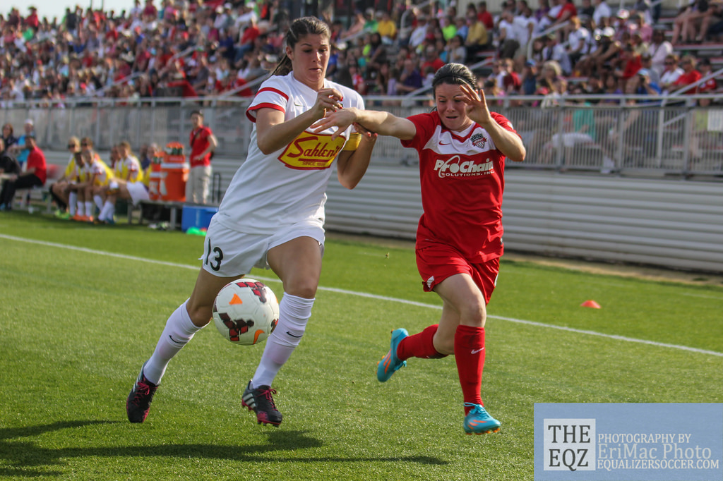 Brittany Taylor (left) has been traded to FC Kansas City. (Copyright EriMac Photo for The Equalizer)