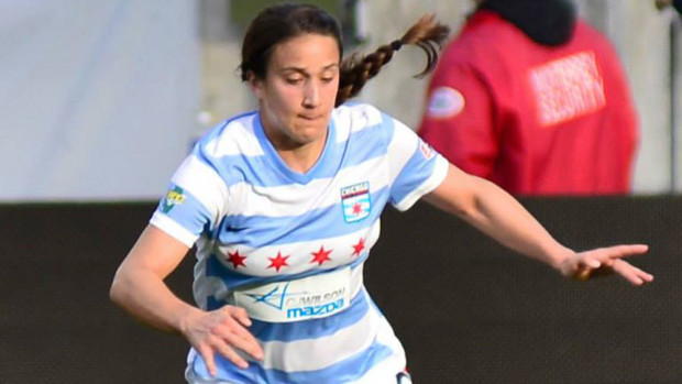 Jen Hoy will be a player the Red Stars call on to help pick up the scoring slack in the absence of Christen Press.. (Photo Courtesy Chicago Red Stars)