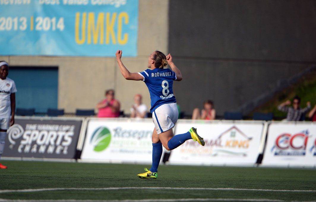 Amy Rodriguez's goal lifted FC Kansas City into the NWSL Championship Match (Photo Courtesy FC Kansas City)