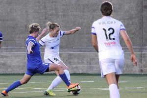 Amy Rodriguez scored twice and Lauren Holiday added another to lift FC Kansas City past the Boston Breakers on Saturday. (Photo Copyright Clark Linehan for The Equalizer)