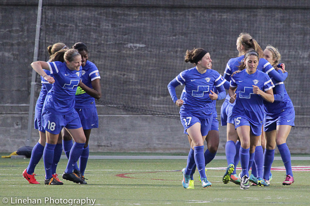 With seven starters on the bench, the Breakers thrashed the Thorns on Wednesday. But can they repeat that performance on Sunday vs. Washington? (Photo Copyright Clark Linehan for The Equalizer)