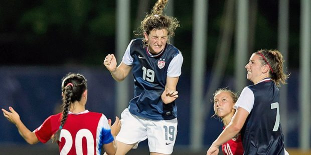 Andi Sullivan is rehabbing a torn ACL and is currently planning to play her senior season at Stanford this fall. (Photo Courtesy CONCACAF.com)