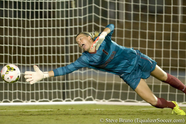 Jane Campbell was set off for DOGSO during her senior season at Stanford. A new rules proposal could have spared her the red card in favor of a yellow. (Photo Copyright Steve Bruno for The Equalizer)