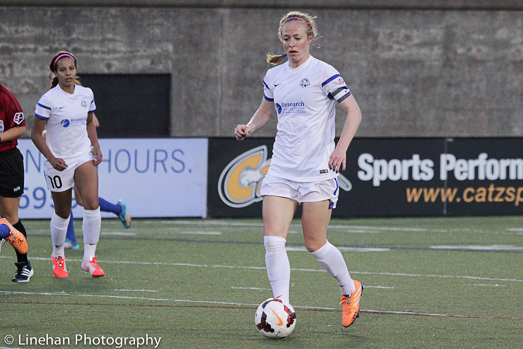 Becky Sauerbrunn and her U.S. teammates returned for a thrilling match in Kansas City on Monday. (Photo Copyright Clark Linehan for The Equalizer)
