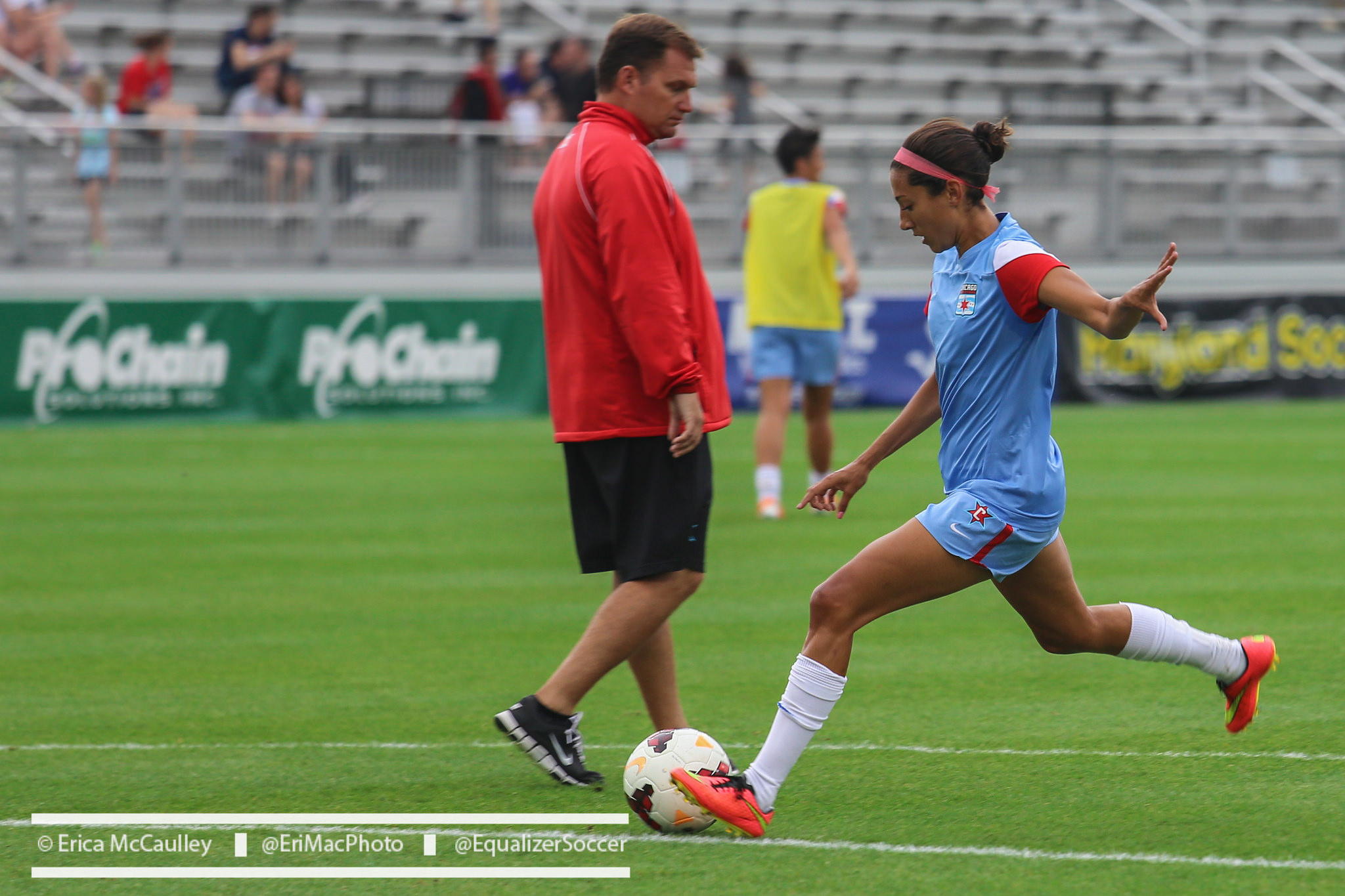 Christen Press had a goal and an assist for Chicago in a critical 2-1 win over FC Kansas City. (Photo Copyright Erica McCaulley for The Equalizer)