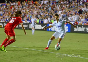 Carli Lloyd scored on Wednesday vs. Switzerland.(Photo Copyright Nicole Gamard for The Equalizer)