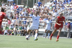 Lauren Holiday scored Saturday in FC Kansas City's 2-0 win over Portland Thorns FC. FCKC advances to the NWSL final.  (Photo Courtesy FC Kansas City)