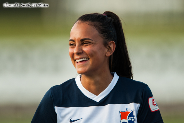 Taylor Lytle is on the road to recovery. (Photo: Howard C. Smith/Sky Blue FC)
