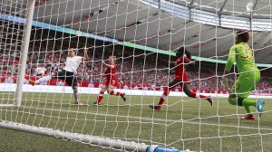 BC Place Stadium in Vancouver, seen here during the 2014 U-20 Women's World Cup, will host the 2015 Women's World Cup final next July. As of now, that match will be on artificial turf. (Getty Images)