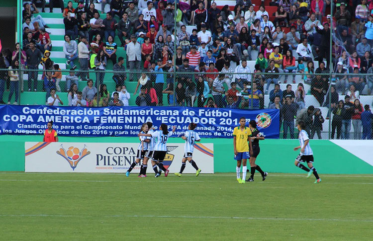 Argentina beat Brazil to end the group stage and advance. (Photo: CONMEBOL)