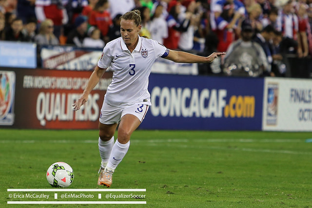 Christie Rampone will miss the USWNT's December games with a knee injury. (Photo Copyright Erica McCaulley for The Equalizer)