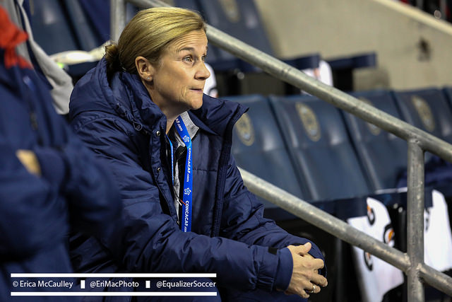 USWNT coach Jill Ellis selected her 20-player roster for qualifying, but the Olympics are still a long way out. (Photo Copyright Erica McCaulley for The Equalizer)