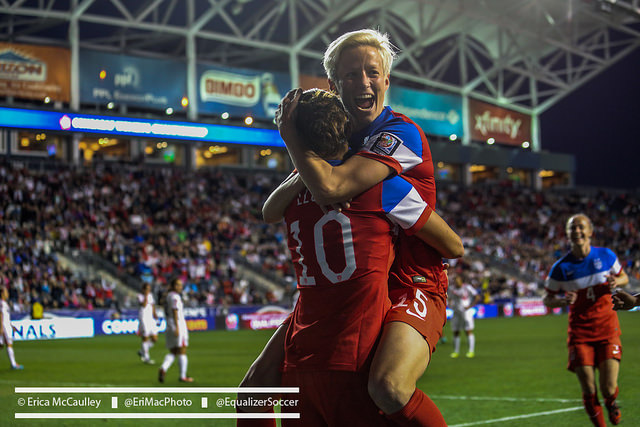 Megan Rapinoe was dangerous on Saturday, which is good news for the U.S. women's national team. (Photo Copyright Erica McCaulley for The Equalizer)